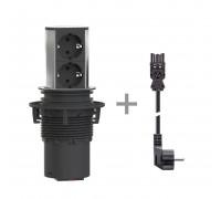 Блок розеточный встриваемый 2x220V+кабель ELEVATOR