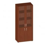 Шкаф широкий высокий со стеклом в раме МДФ (без топа) ФР-6.0+КН-4.0+4.5