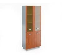Шкаф книжный высокий со стеклом в раме МДФ (без топа и боковин)