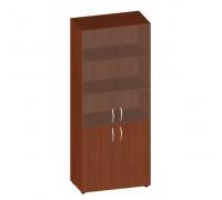 Шкаф широкий высокий со стеклом (без топа) ФР-6.0+4.0+51.0*2+ЕС*2