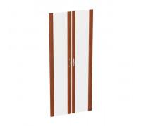 Двери стеклянные высокие в рамке МДФ (2 шт.) КН-4.6