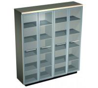 Шкаф для документов со стеклянными высокими дверьми