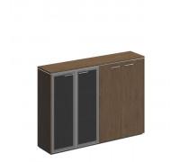 Шкаф для документов комбинированный (стекло+закрытый)