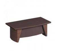 Стол руководителя с фронтальной панелью, столешница кожа st82085