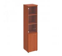 Шкаф для документов узкий со стеклянной прозрачной дверью st82573