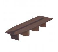 Стол для переговоров овальный, дерево/кожа, металлическая вставка st82066