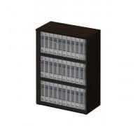 Шкаф для документов средний со стеклянными тонированными дверьми без рамки 969