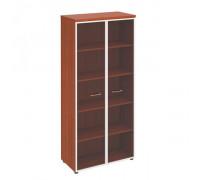 Шкаф для документов со стеклянными прозрачными дверьми в рамке st82548