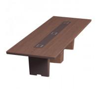 Стол для переговоров прямоугольный, дерево+кожа