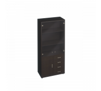 Шкаф для документов с тонированными дверями