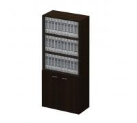 Шкаф для документов со стеклянными тонированными дверьми без рамки 983