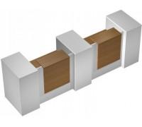 Стойка ресепшн прямая с 2 вырезами с 3 тумбами с подсветкой КВ 0816 БН