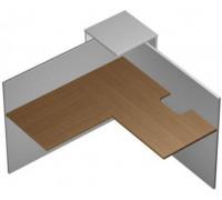 Модуль ресепшн угловой с вырезом левый КВ 0703