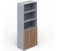 Шкаф для документов 2 двери ниши, 4 полки, ручки - хром EMHS833
