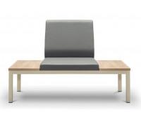 Диван 2-х местный без подлокотников со столиком НОРМАН 2А/С+А+С