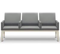 Диван 3-х местный с подлокотниками между каждым сиденьем НОРМАН 3П