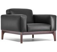 Кресло FIOTTO, черная кожа+искусственная кожа