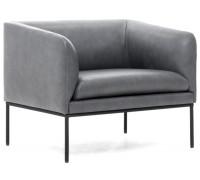 Кресло LIRO, кожа серая
