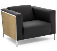 Кресло VISPO Wood, кожа