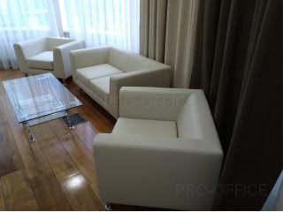 Диваны и кресла сделаны из одного цвета натуральной кожи