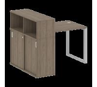 Стол письменный на О-образном м/к с опорным шкафом-купе БО.РС-СШК-3.1