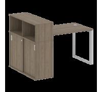 Стол письменный на О-образном м/к с опорным шкафом-купе БО.РС-СШК-3.2