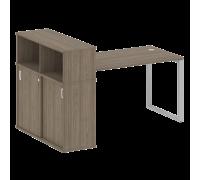 Стол письменный на О-образном м/к с опорным шкафом-купе БО.РС-СШК-3.3