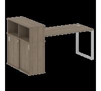Стол письменный на О-образном м/к с опорным шкафом-купе БО.РС-СШК-3.4