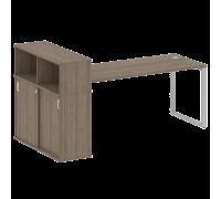Стол письменный на О-образном м/к с опорным шкафом-купе БО.РС-СШК-3.5