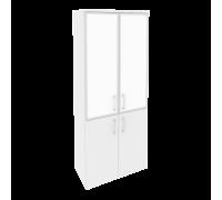 Шкаф высокий широкий O.ST-1.2R white/black