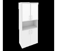 Шкаф высокий широкий O.ST-1.4R white/black