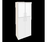 Шкаф высокий широкий O.ST-1.7R white/black