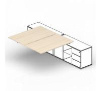 Составной стол на 2 рабочих места PE2TPS168FU