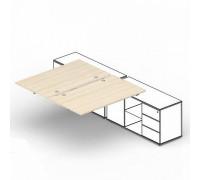 Составной стол на 2 рабочих места ST2TPG168FU