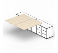 Составной стол на 2 рабочих места ST2TPS168FU