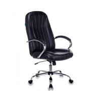Кресло руководителя Бюрократ T-898SL/BLACK черный искусственная кожа крестовина хром
