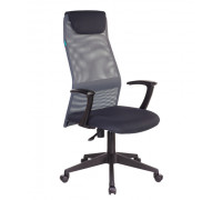 Кресло руководителя Бюрократ KB-8N/DG/TW-12 серый TW-04 TW-12 сетка/ткань