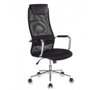 Кресло руководителя Бюрократ KB-9N/BLACK черный TW-01 TW-11 сетка/ткань крестовина хром