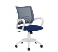 Кресло Бюрократ CH-W695N/DB/TW-10N темно-синий TW-05N TW-10N сетка/ткань (пластик белый)